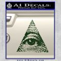 All Seeing Eye Decal Sticker Dark Green Vinyl 120x120