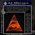 All Seeing Eye Decal Sticker Orange Emblem 120x120