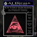 All Seeing Eye Decal Sticker Pink Emblem 120x120