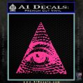 All Seeing Eye Decal Sticker Pink Hot Vinyl 120x120
