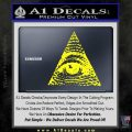 All Seeing Eye Decal Sticker Yellow Laptop 120x120