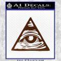 All Seeing Eye Nwo Illuminati D3 Decal Sticker BROWN Vinyl 120x120