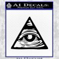 All Seeing Eye Nwo Illuminati D3 Decal Sticker Black Vinyl 120x120