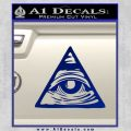 All Seeing Eye Nwo Illuminati D3 Decal Sticker Blue Vinyl 120x120