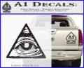 All Seeing Eye Nwo Illuminati D3 Decal Sticker Carbon FIber Black Vinyl 120x97