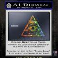 All Seeing Eye Nwo Illuminati D3 Decal Sticker Glitter Sparkle 120x120