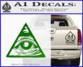 All Seeing Eye Nwo Illuminati D3 Decal Sticker Green Vinyl Logo 120x97