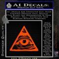 All Seeing Eye Nwo Illuminati D3 Decal Sticker Orange Emblem 120x120