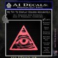 All Seeing Eye Nwo Illuminati D3 Decal Sticker Pink Emblem 120x120