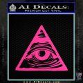 All Seeing Eye Nwo Illuminati D3 Decal Sticker Pink Hot Vinyl 120x120