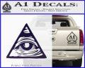 All Seeing Eye Nwo Illuminati D3 Decal Sticker PurpleEmblem Logo 120x97