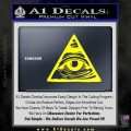 All Seeing Eye Nwo Illuminati D3 Decal Sticker Yellow Laptop 120x120