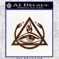 All Seeing Eye Order Of The Triad D1 Decal Sticker BROWN Vinyl 120x120