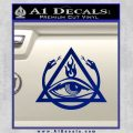 All Seeing Eye Order Of The Triad D1 Decal Sticker Blue Vinyl 120x120