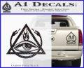 All Seeing Eye Order Of The Triad D1 Decal Sticker Carbon FIber Black Vinyl 120x97