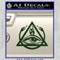 All Seeing Eye Order Of The Triad D1 Decal Sticker Dark Green Vinyl 120x120
