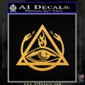 All Seeing Eye Order Of The Triad D1 Decal Sticker Gold Vinyl 120x120