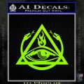 All Seeing Eye Order Of The Triad D1 Decal Sticker Lime Green Vinyl 120x120
