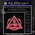 All Seeing Eye Order Of The Triad D1 Decal Sticker Pink Emblem 120x120