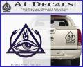 All Seeing Eye Order Of The Triad D1 Decal Sticker PurpleEmblem Logo 120x97