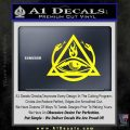 All Seeing Eye Order Of The Triad D1 Decal Sticker Yellow Laptop 120x120