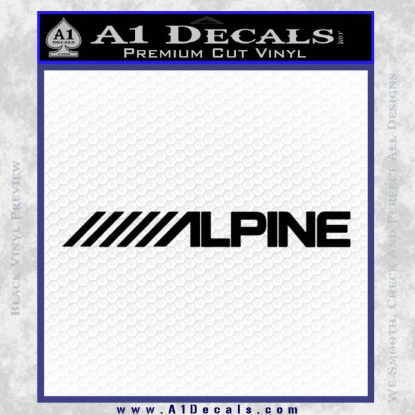Alpine audio decal 2 pack black vinyl 120x120