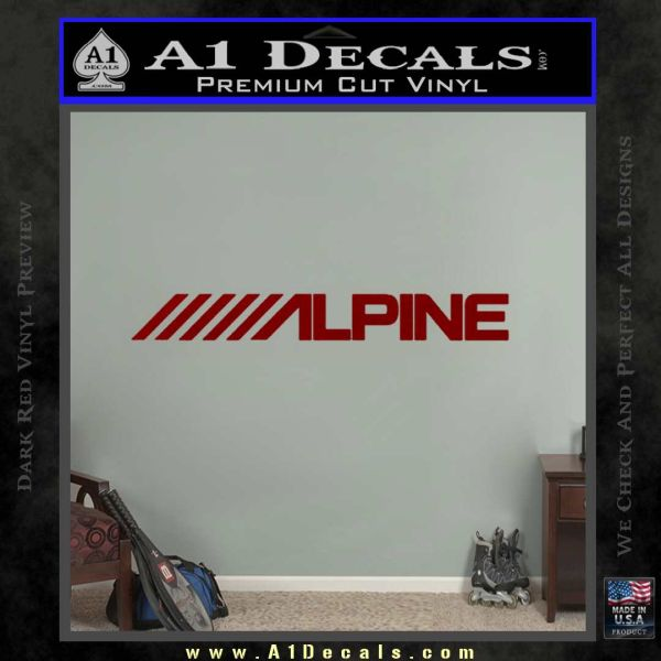 Alpine audio decal 2 pack drd vinyl 120x120