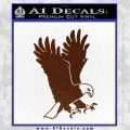 American Eagle Decal Sticker BROWN Vinyl 120x120