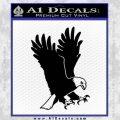 American Eagle Decal Sticker Black Vinyl 120x120