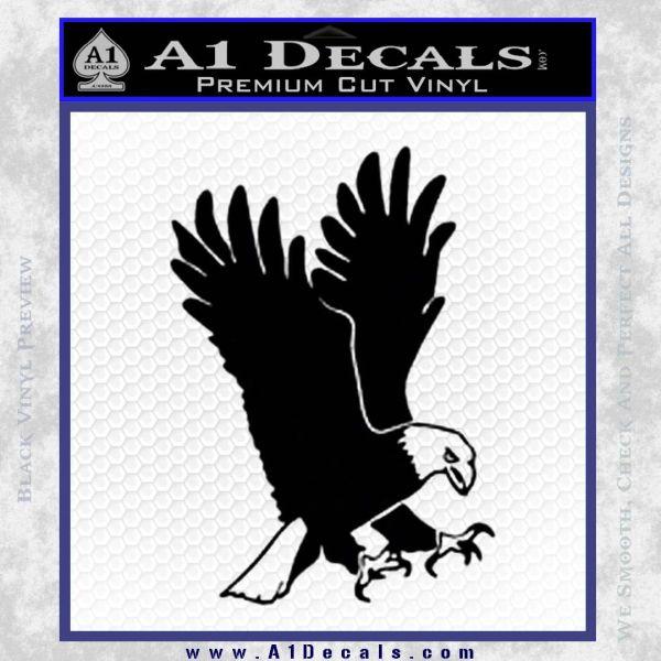 American Eagle Decal Sticker Black Vinyl