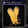 American Eagle Decal Sticker Gold Vinyl 120x120