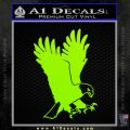 American Eagle Decal Sticker Lime Green Vinyl 120x120