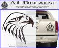 American Eagle Decal Sticker Sharp Carbon FIber Black Vinyl 120x97