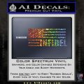 American Infidel Flag D2 Decal Sticker Glitter Sparkle 120x120