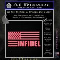 American Infidel Flag D2 Decal Sticker Pink Emblem 120x120
