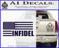 American Infidel Flag D2 Decal Sticker PurpleEmblem Logo 120x97