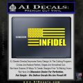 American Infidel Flag D2 Decal Sticker Yellow Laptop 120x120