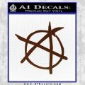 Anarchy Decal Sticker BROWN Vinyl 120x120