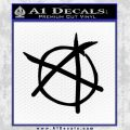 Anarchy Decal Sticker Black Vinyl 120x120
