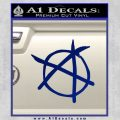 Anarchy Decal Sticker Blue Vinyl 120x120