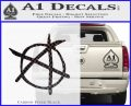 Anarchy Decal Sticker Carbon FIber Black Vinyl 120x97