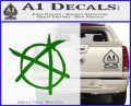 Anarchy Decal Sticker Green Vinyl Logo 120x97