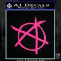 Anarchy Decal Sticker Pink Hot Vinyl 120x120
