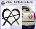 Anarchy Heart Decal Sticker Carbon FIber Black Vinyl 120x97