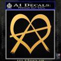 Anarchy Heart Decal Sticker Gold Vinyl 120x120