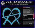 Anarchy Heart Decal Sticker Light Blue Vinyl 120x97
