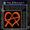 Anarchy Heart Decal Sticker Orange Emblem 120x120