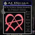 Anarchy Heart Decal Sticker Pink Emblem 120x120