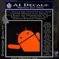 Android Corner Wave Decal Sticker Orange Emblem 120x120