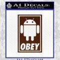 Android Obey Full Decal Sticker BROWN Vinyl 120x120